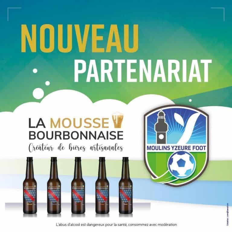 La Mousse Bourbonnaise, partenaire du MYF Moulins Yzeure Foot